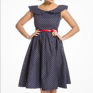 Lindy Bop Polka Dot Dress Sz XL/UK16/EU 44 NWT